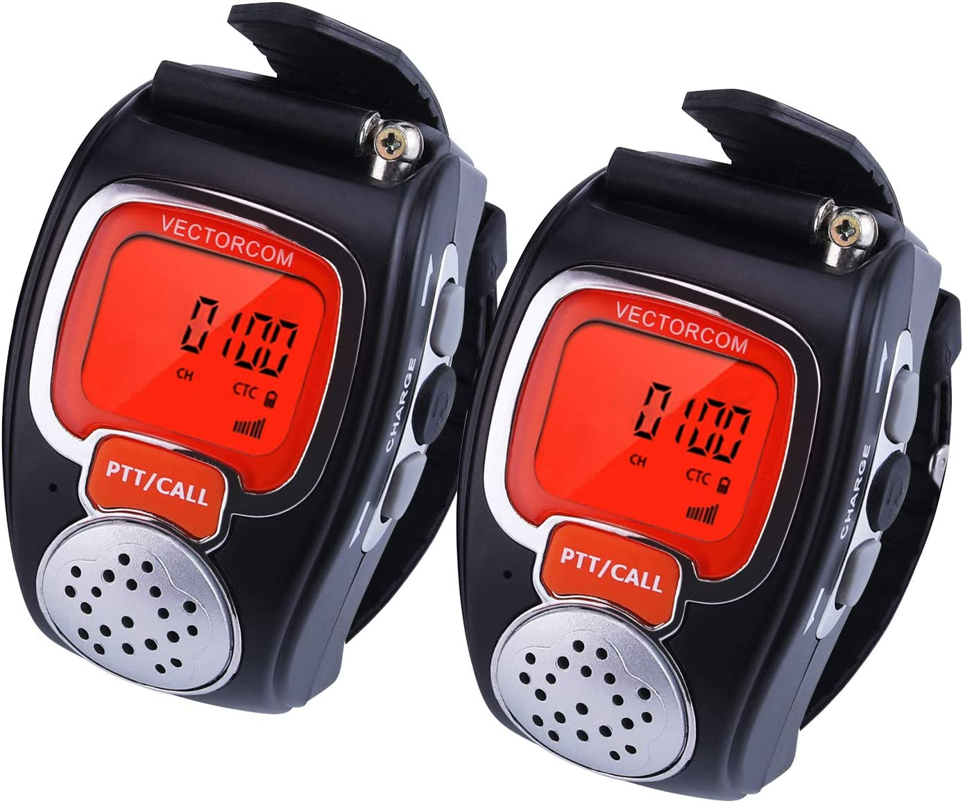 VECTORCOM Portable Digital Wrist Watch Walkie Talkie Two-Way Radio Outdoor Sport Hiking