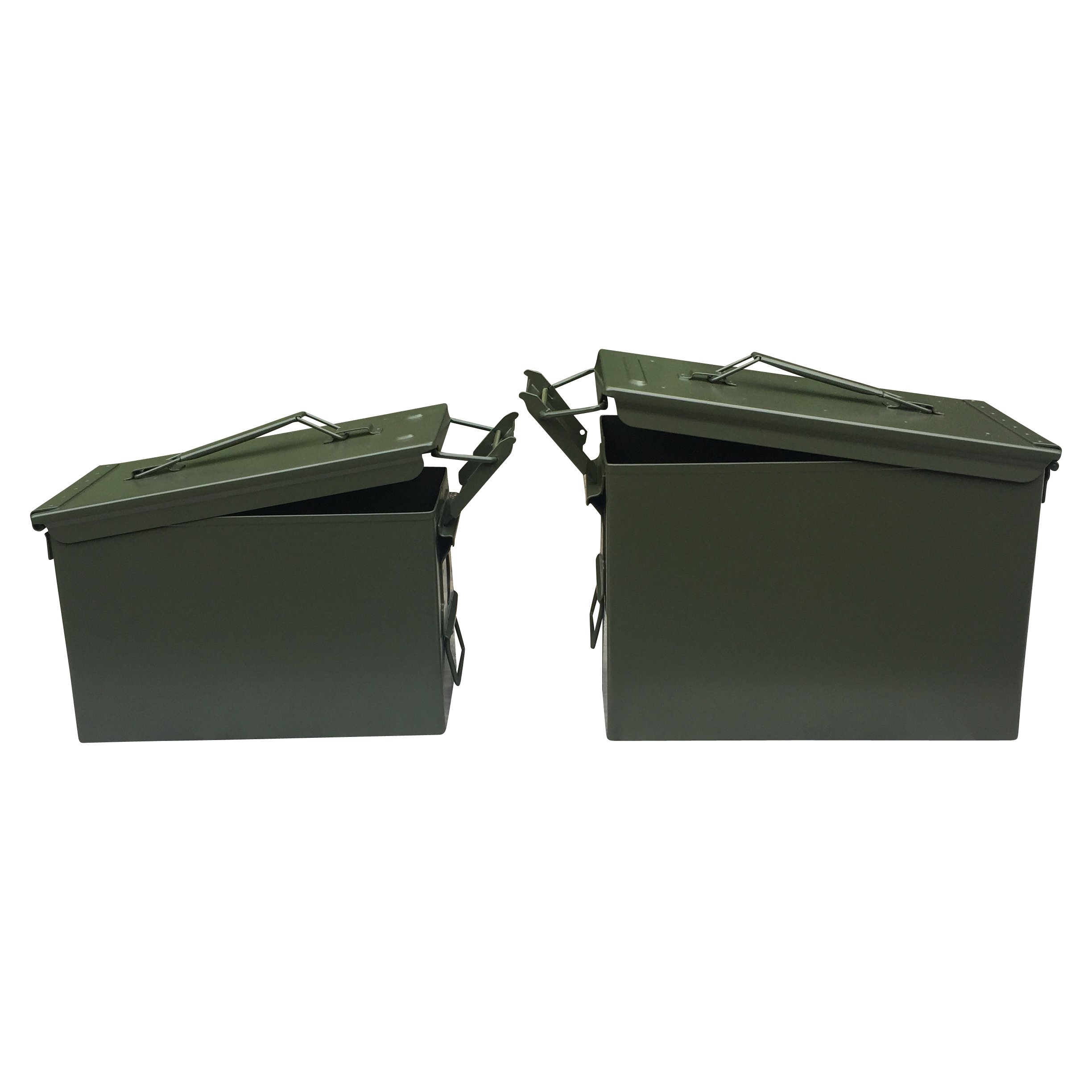 Ten Cans! Five Mil-Spec FAT 50 Cal PA108 Ammo Cans and Five Mil-Spec 50 Cal M2A1 Ammo Cans. BRAND NEW by Ammo Can Man