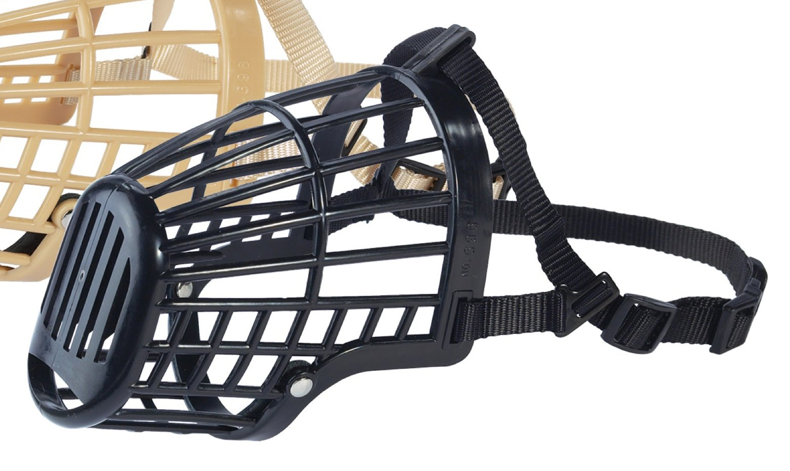 Guardian Gear Flexible Plastic Dog Basket Muzzle - X-Large, Black