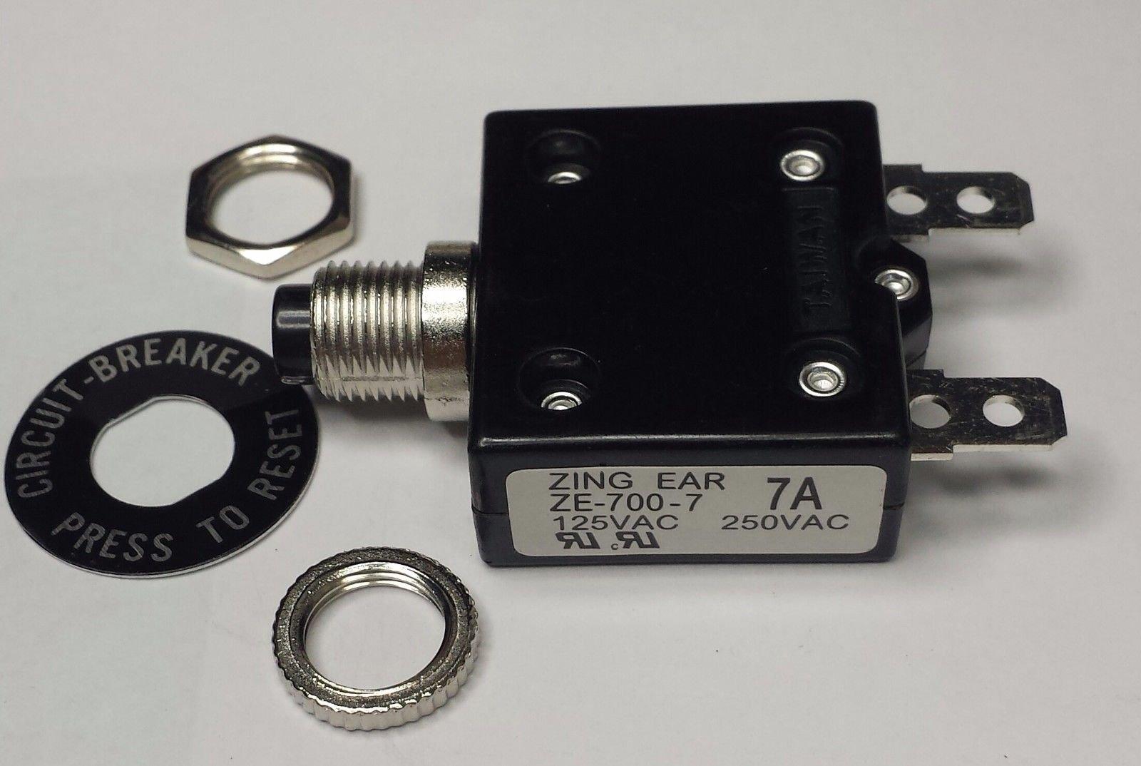CBK Supply - ZE700-7A Zing Ear thermal circuit breaker replaces Carling, Joemex, Kuoyeh, P&B