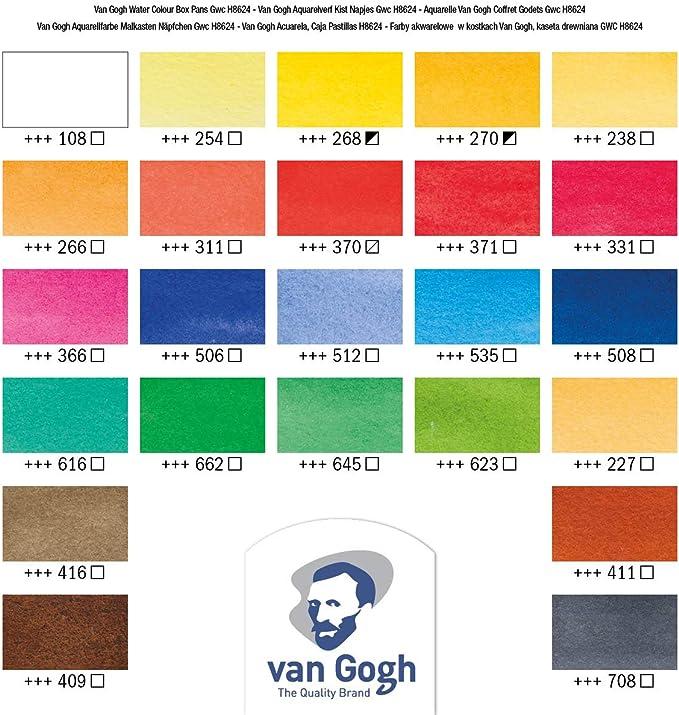 Halbe Pfannen Acryl TOPSALE 24 Well Luftdichte Leck Aquarell Farben Paletten Box f/ür Aquarelle Gouache und ?L Farben
