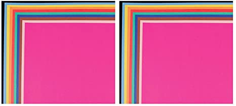 School Smart Railroad Board, 6-Ply, 22 x 28 Inches, Assorted Colors (2 X Pack of 25)