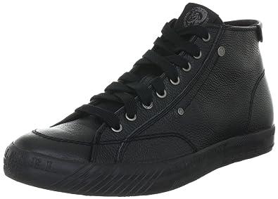 75ed3cc70bc8 DIESEL Mens D-78 Mid High Top Black Schwarz (Black T8013) Size  6 ...