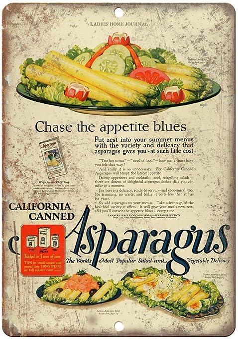 Lies Home Journal Asparagus Póster de Pared Metal Creativo ...