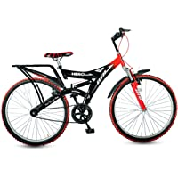 Hero Ranger DTB Vx 26T Single Speed Without Shox Mountain Bike, 19.7 inch Frame (Red/Black)