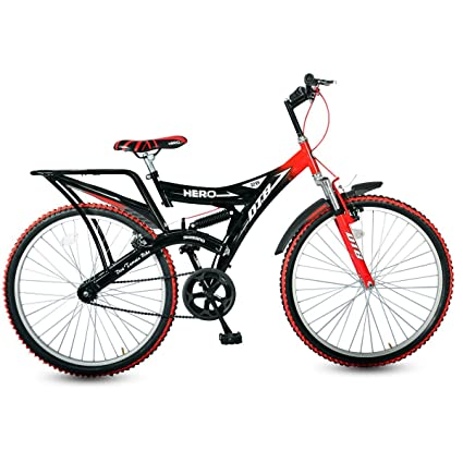 dc5f7a05723 Buy Hero Ranger DTB Vx 26T Single Speed Without Shox Mountain Bike, 19.7  inch Frame (Red/Black) Online at Low Prices in India - Amazon.in