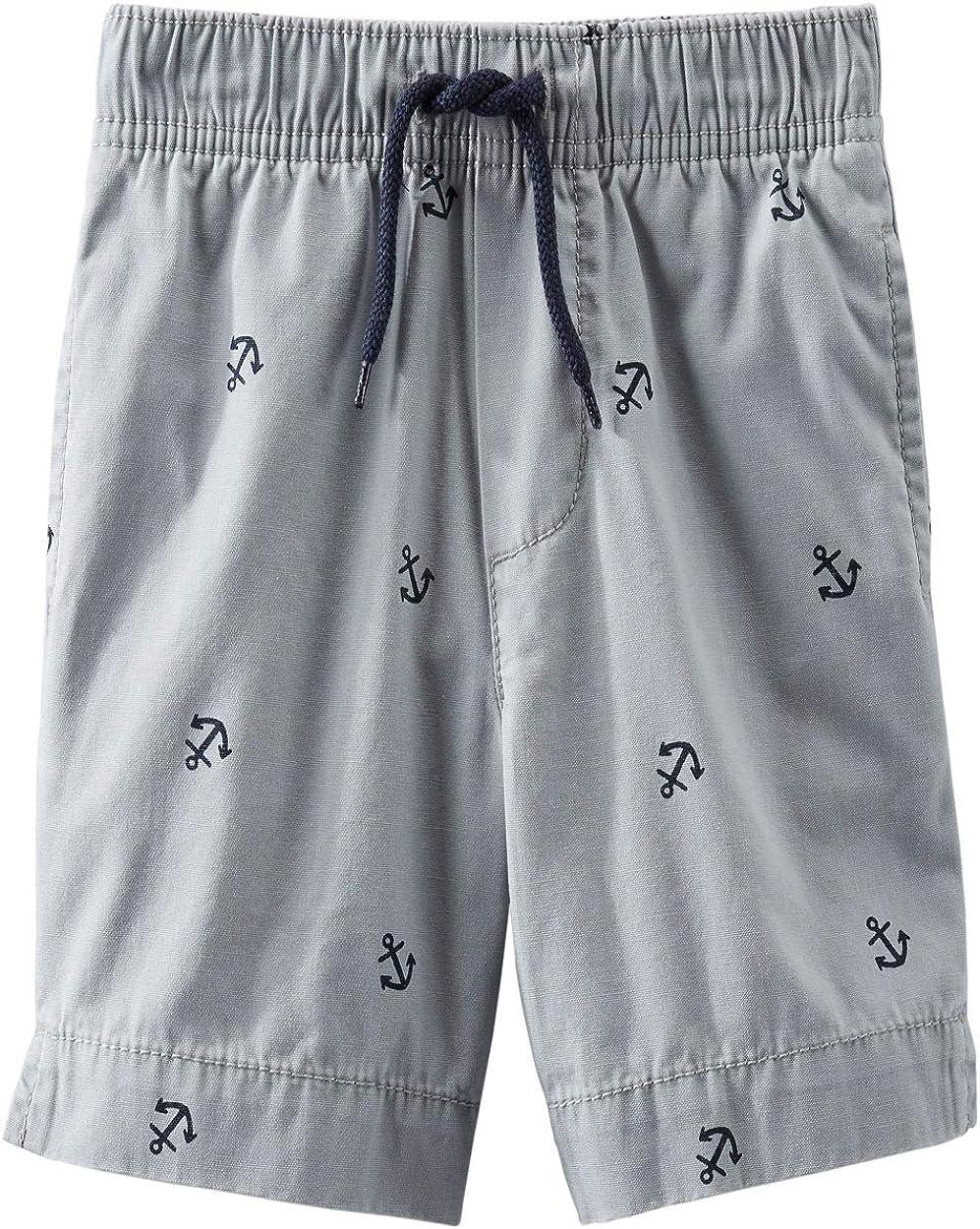 OshKosh BGosh Baby Boys Grey Anchor Shorts