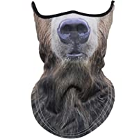 WTACTFUL 3D Animal Neck Gaiter Warmer Windproof Face Mask for Ski Halloween Party