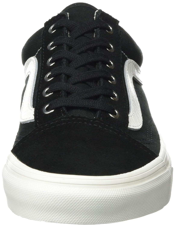 Vans Unisex Old Skool Classic Skate Shoes B072NRZN63 Blanc 9.5 M UK|Snake Black Blanc B072NRZN63 db51db