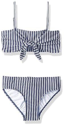 b7ccf0e1b7 Amazon.com  Seafolly Women s Big Girls  Tie Front Mini Tube Bikini ...