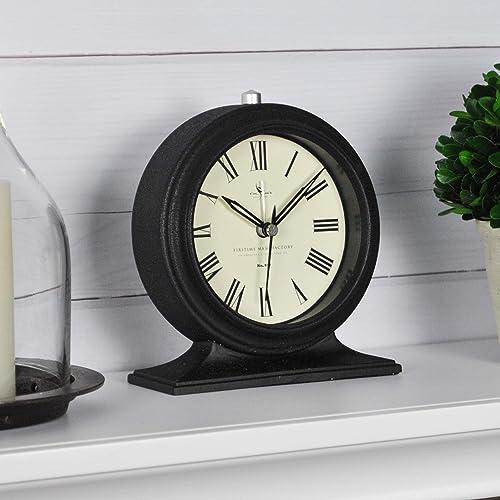 FirsTime Co. Antolini Tabletop Clock, 5.5 H x 5 W, Black