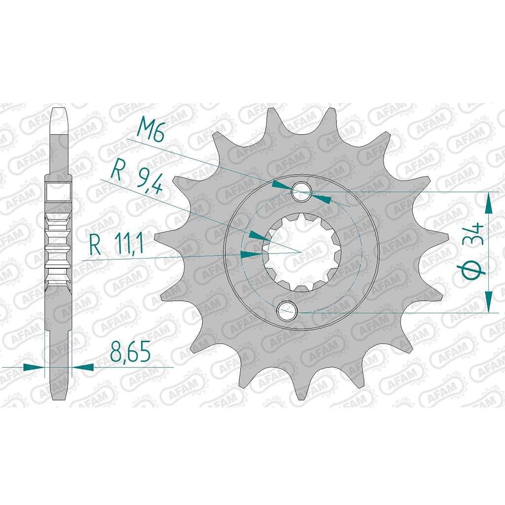 Pignone 73305 – 14 # 520 per KTM Duke 390 ABS 2013 > | KTM RC 390 ABS 2014 >. AFAM