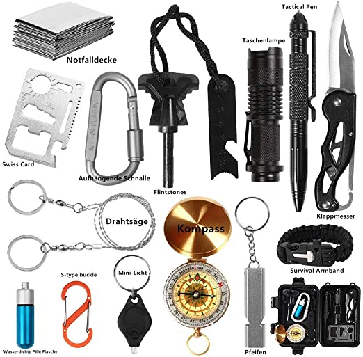 SOS Erste Hilfe Set Selbsthilfe Notfall Survival Kit Outdoor Hiking Camping ♥