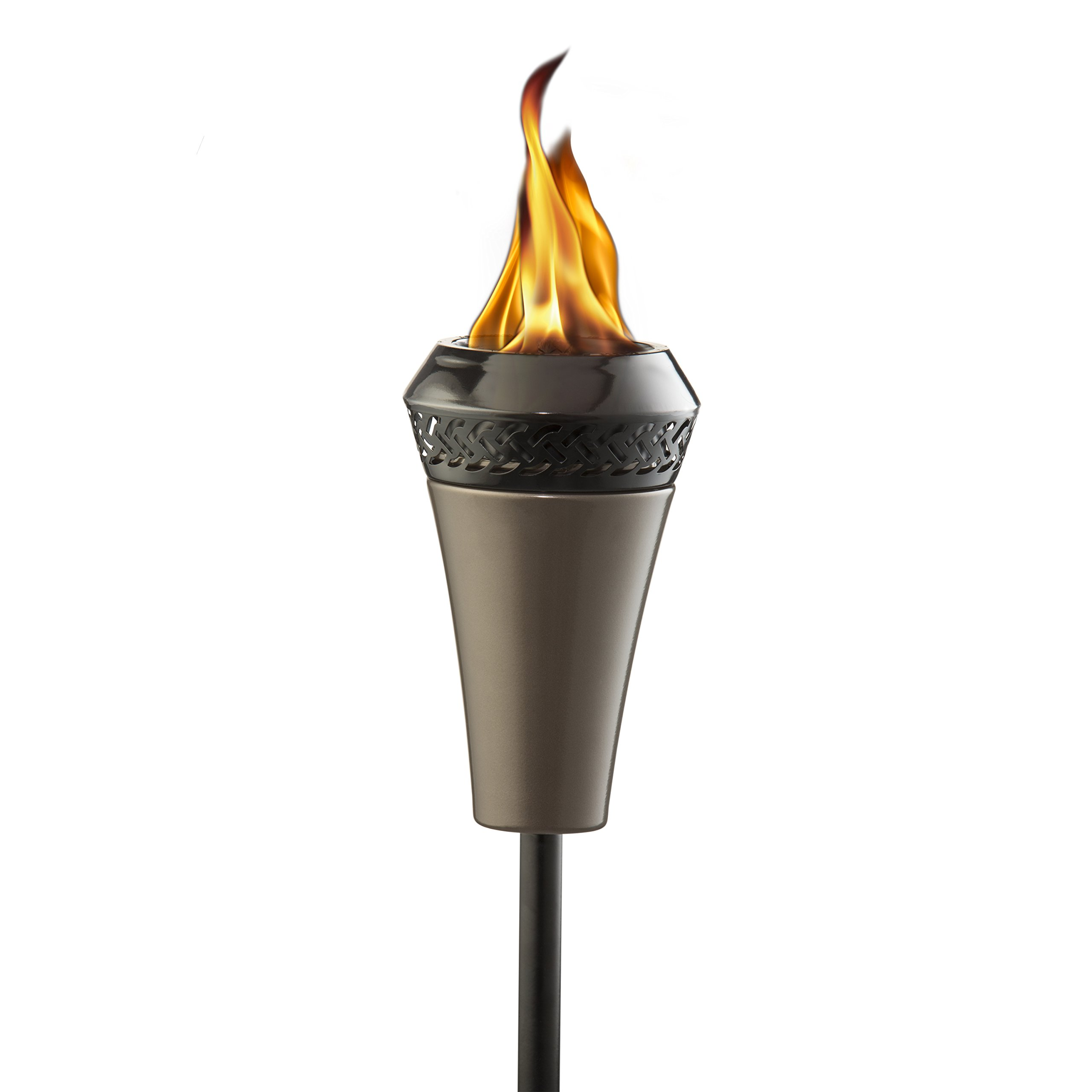 TIKI Brand 66-Inch Island King Large Flame Torch, Gunmetal Finish by Tiki