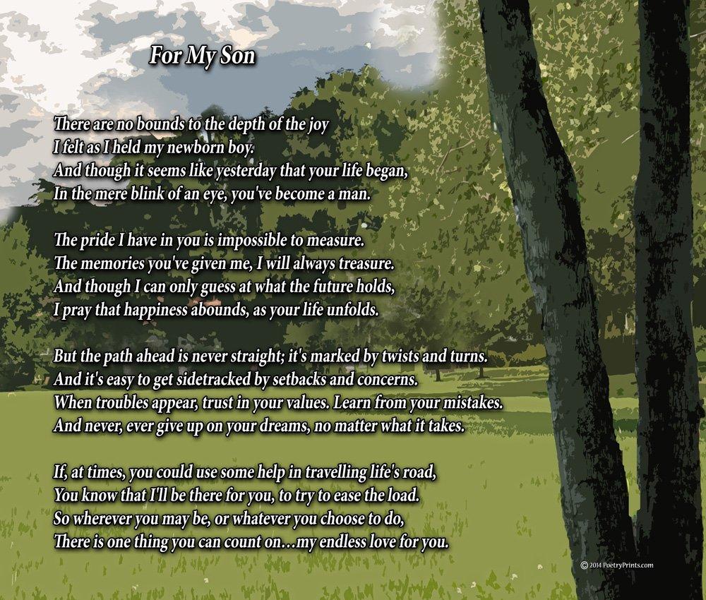 For My Son – 詩印刷( 8 x 10 8  x 10  Inch クリア B00A7AW2N6  フレームなし B00A7AW2N6