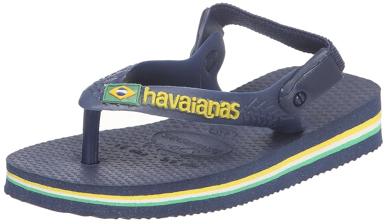 Havaianas Baby Brasil Logo, Tongs mixte bébé - Jaune- 22 EU (20 BR) 4119727.0144.200_Jaune