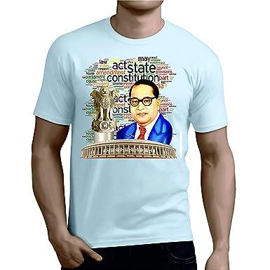 956fd80c YouWe Fashion Casual Men's Polyester Printed Jai Bhim Dr. Ambedkar ...