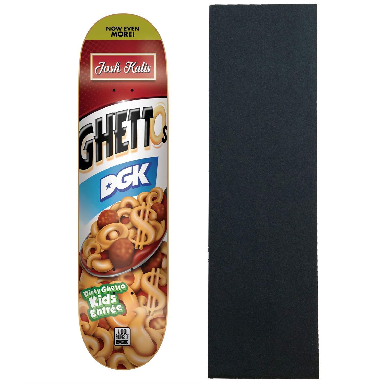 DGK スケートボードデッキ ゲットスナックKalis 8.25インチ x 32インチ グリップ付き