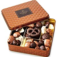 Chocolate Gift Basket , Gourmet Snack Food Box in Keepsake Tin, Great for Birthday, Sympathy, Family Parties & Get Well - Bonnie & Pop (Insulated Cold Packaging)