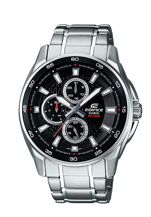 83144296465a Buy Casio Edifice Analog Black Dial Men s Watch - EF-334D-1AVDF (ED420)  Online at Low Prices in India - Amazon.in