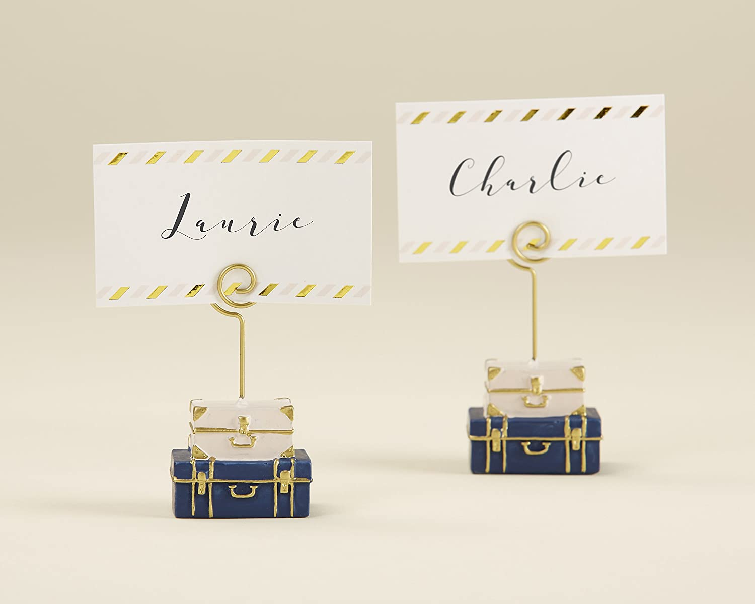 Kate Aspen, Suitcase Place Card Holder, Wedding/Party Decoration (Set of 6) 25338NA