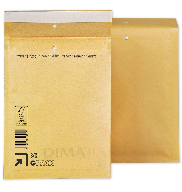 C3 170x225mm DIN A5 B6+ Luftpolsterumschl/äge Luftpolsterversandtaschen 200 Luftpolstertaschen braun Gr