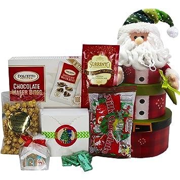 santa claus stacking christmas holiday gift tower - Santa Claus Gifts