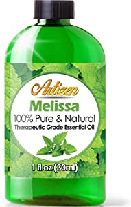 Artizen Melissa Essential Oil (100% Pure & Natural - UNDILUTED) Therapeutic Grade - Huge 1oz Bottle - Perfect for Aromatherapy, Relaxation, Skin Therapy & More!