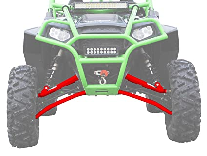 SuperATV High Clearance 1 5'' Forward Offset A-Arms for Polaris RZR XP  900/4 900 (2011-2014) - Red