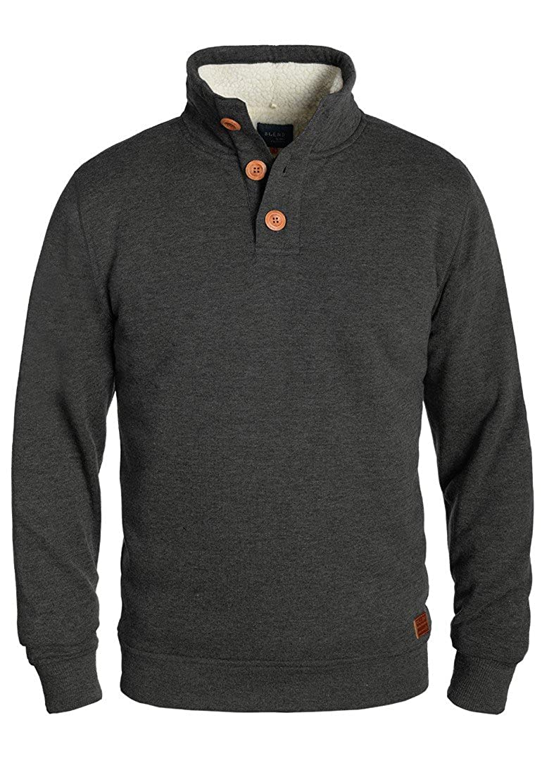 BLEND Tedder Men's Sweatshirt Sweat Shirt Jumper With Teddy FleeceWith Teddy Fur Lining