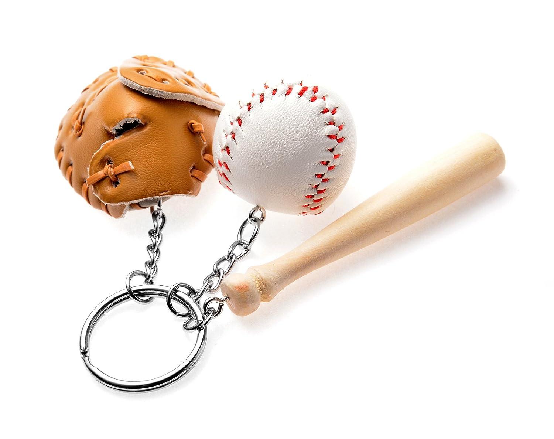 REINDEAR Novelty Mini Baseball Set Pendant Keychain 758182507724