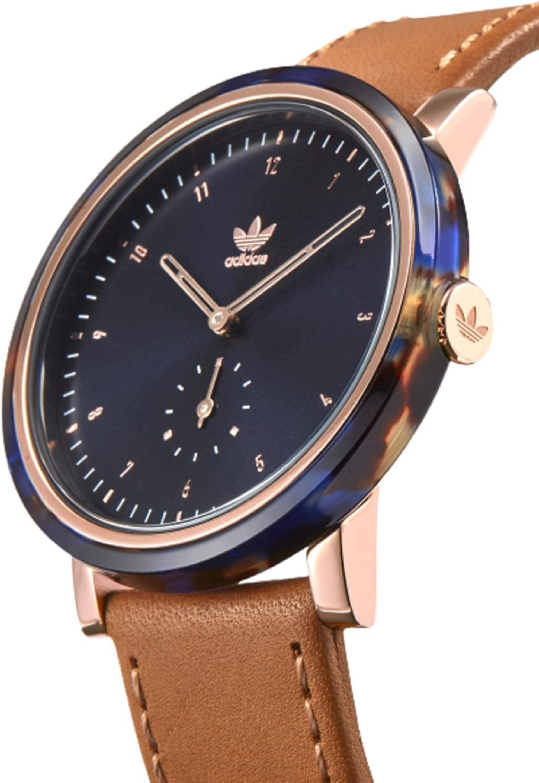 Adidas Watches (アディダス ウォッチ) 防水 アナログ ウォッチ (日本正規商品) [ Z19-3245/District_AL3 ] シリコン 腕時計 日本製ムーブメント 3245_Blue Tortoise/Rose Gold/Tan