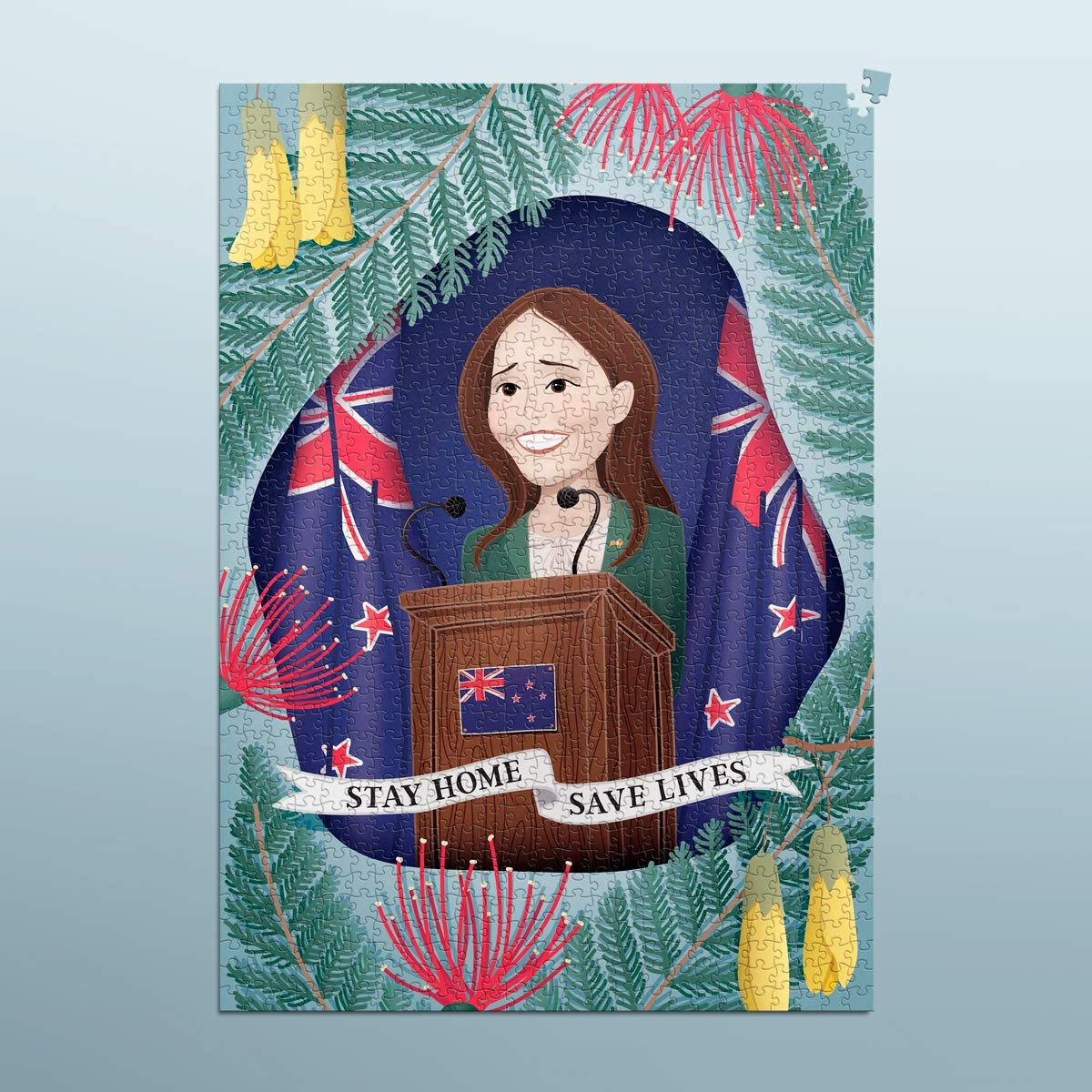Puzzle for Adults Jacinda Ardern Limited Edition Jigsaw Puzzle New Zealand Prime Minister 1000 Piece. Artwork by Kiwi Artist
