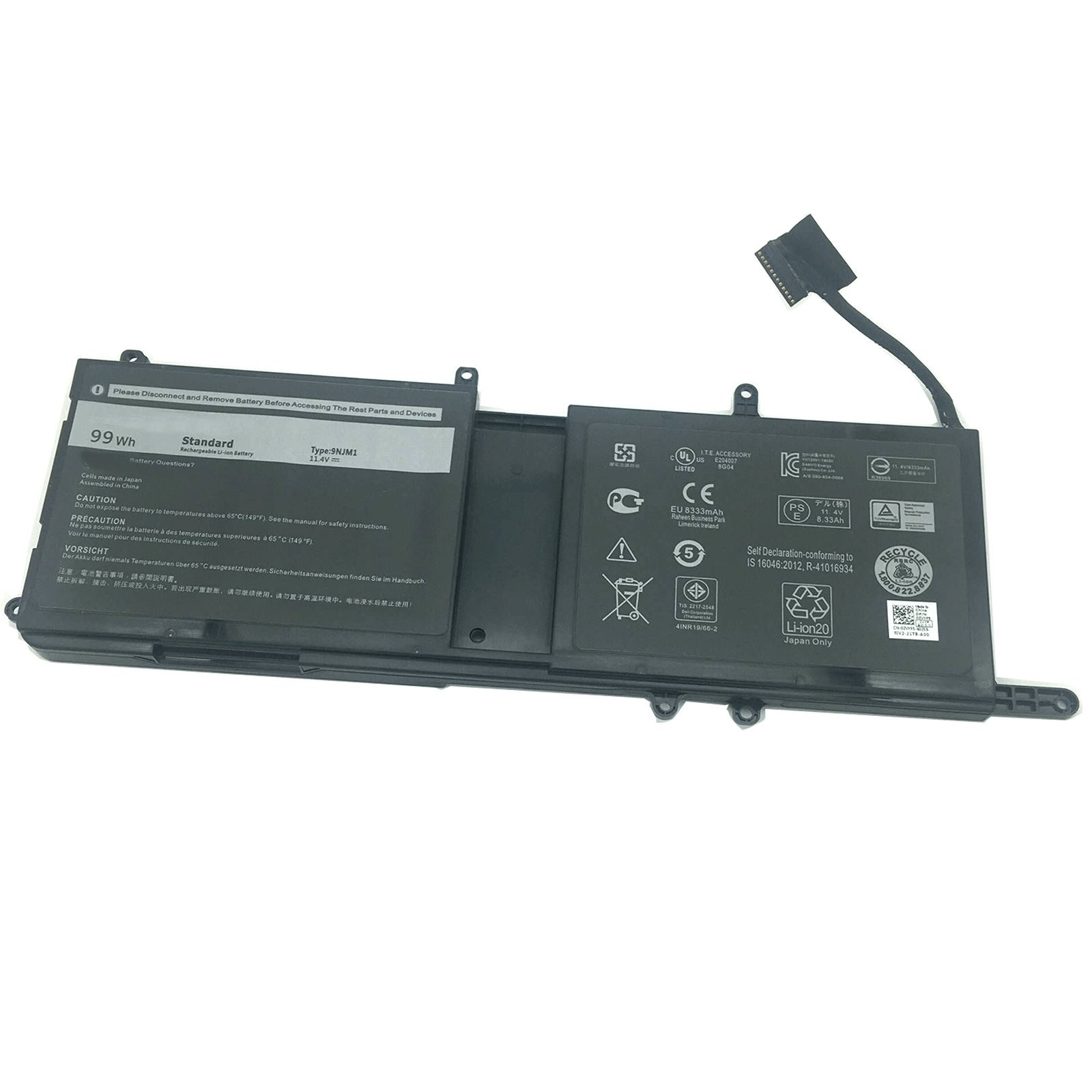 SUNNEAR Compatible/Replacement Laptop Battery for Dell 9NJM1 Alienware 15 R3 17 R4 99Wh 11.4V MG2YH 01D82