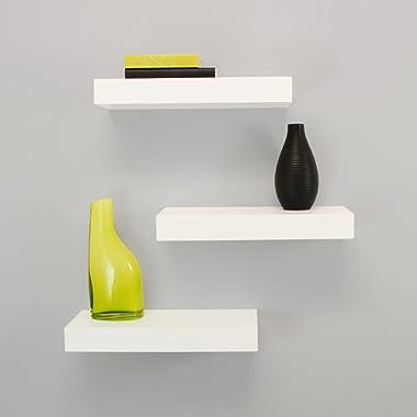 kieragrace Modern Floating-Shelves, Pack of 3, White