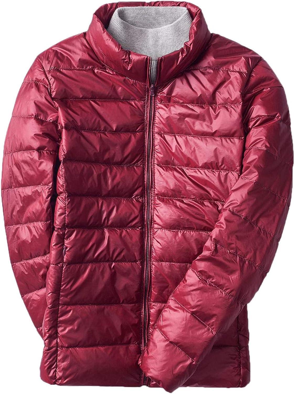 Elonglin Womens Down Jacket Lightweight Duck Down Quilted Jacket Stand Collar