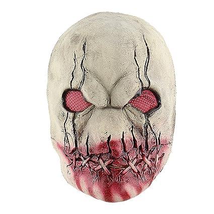 bestoyard marshmallow  : BESTOYARD Latex Zombie Mask Horror Bloody Rotted Mouth ...