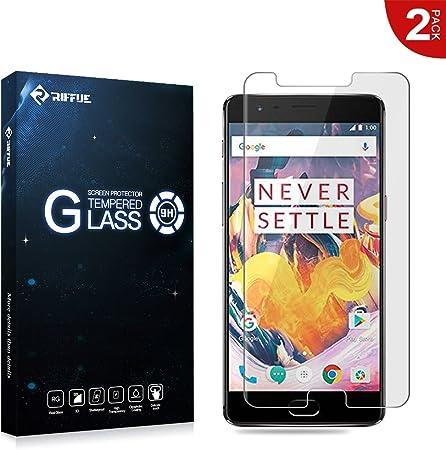 RIFFUE OnePlus 3T Protector de Pantalla, OnePlus 3T Cristal Vidrio ...