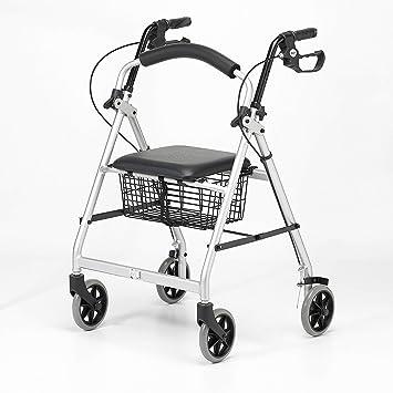 Patterson Medical - Andador ligero de aluminio con ruedas, color gris