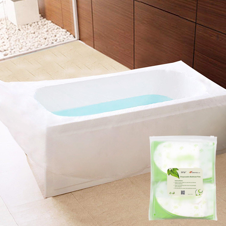 Amazon.com : TFY Ultra Large Disposable Film Bathtub Lining Bags ...