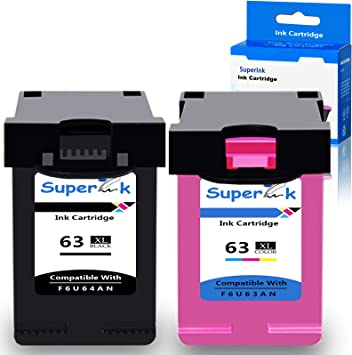 2PK Combo Ink Cartridges For HP 63XL Deskjet 1110 1112 2130 2132 F6U64A F6U63A