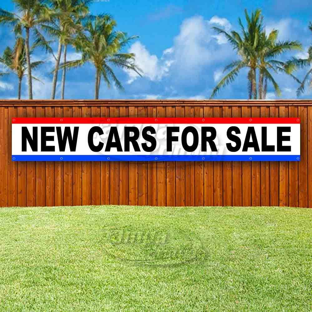 Advertising Flag, Many Sizes Available New New Cars for Sale Extra Large 13 oz Heavy Duty Vinyl Banner Sign with Metal Grommets Store