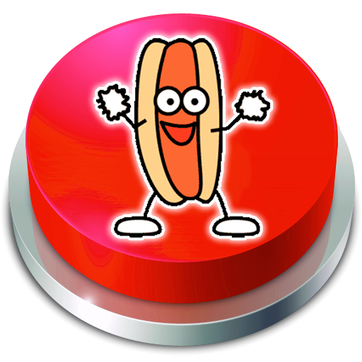 (Hot Jelly Dog Rapper  Button)