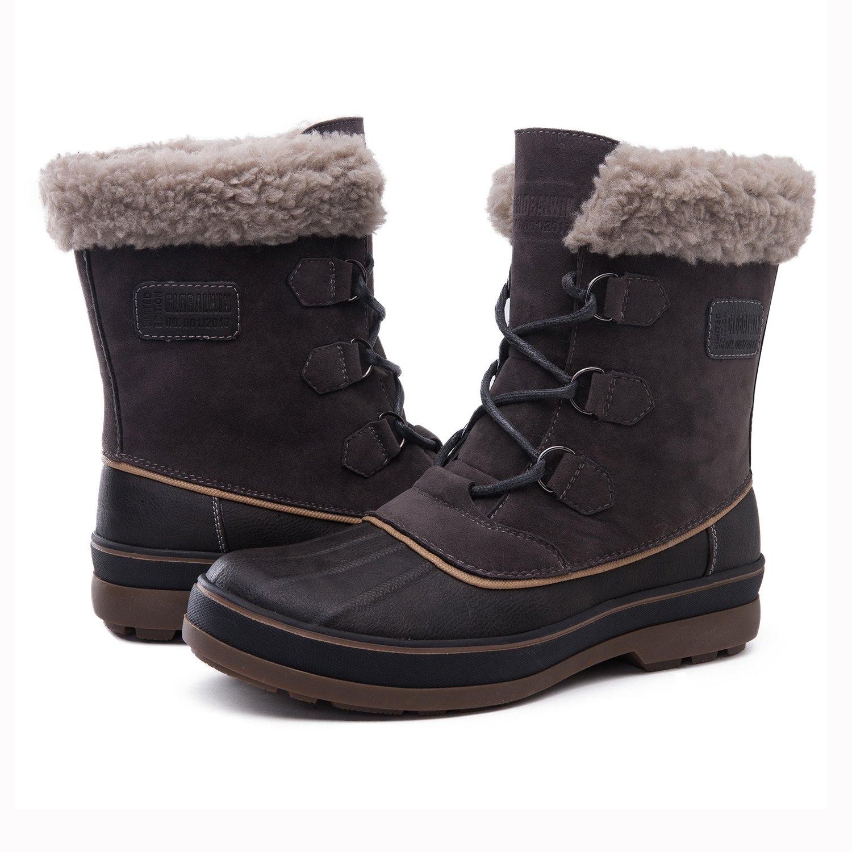 Globalwin Men's Waterproof Winter Boots (13 M US Men's, 1723Grey) by Global Win