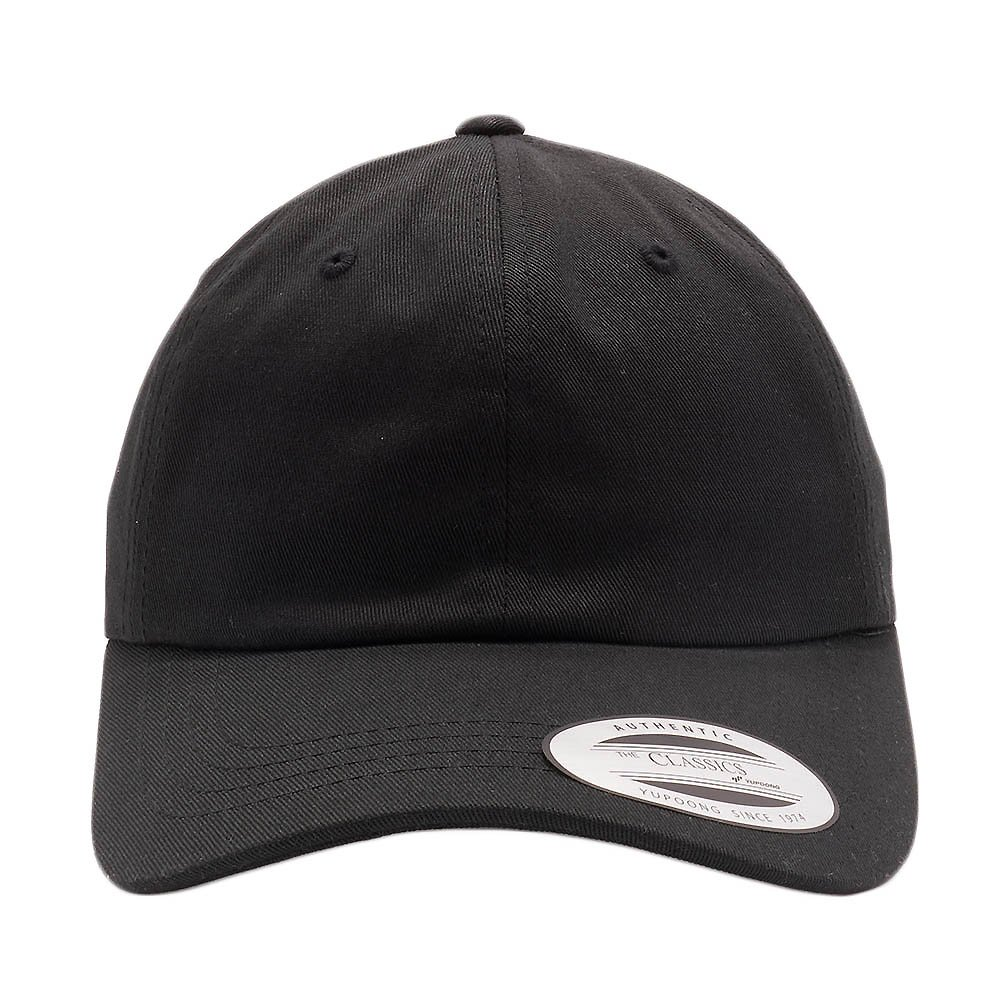 703562df Acorn Yupoong Classic 6245PT Unstructured Peached Cotton Twill Dad Hats  Baseball Caps (Black) at Amazon Men's Clothing store: