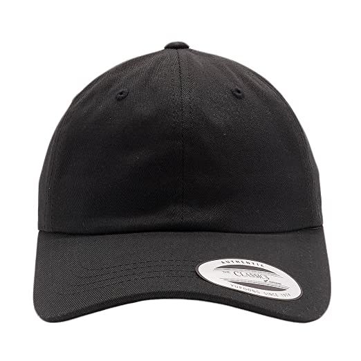 764064c239c Acorn Yupoong Classic 6245CM Unstructured Cotton Twill Dad Hats Low Profile  Baseball Caps (Black)