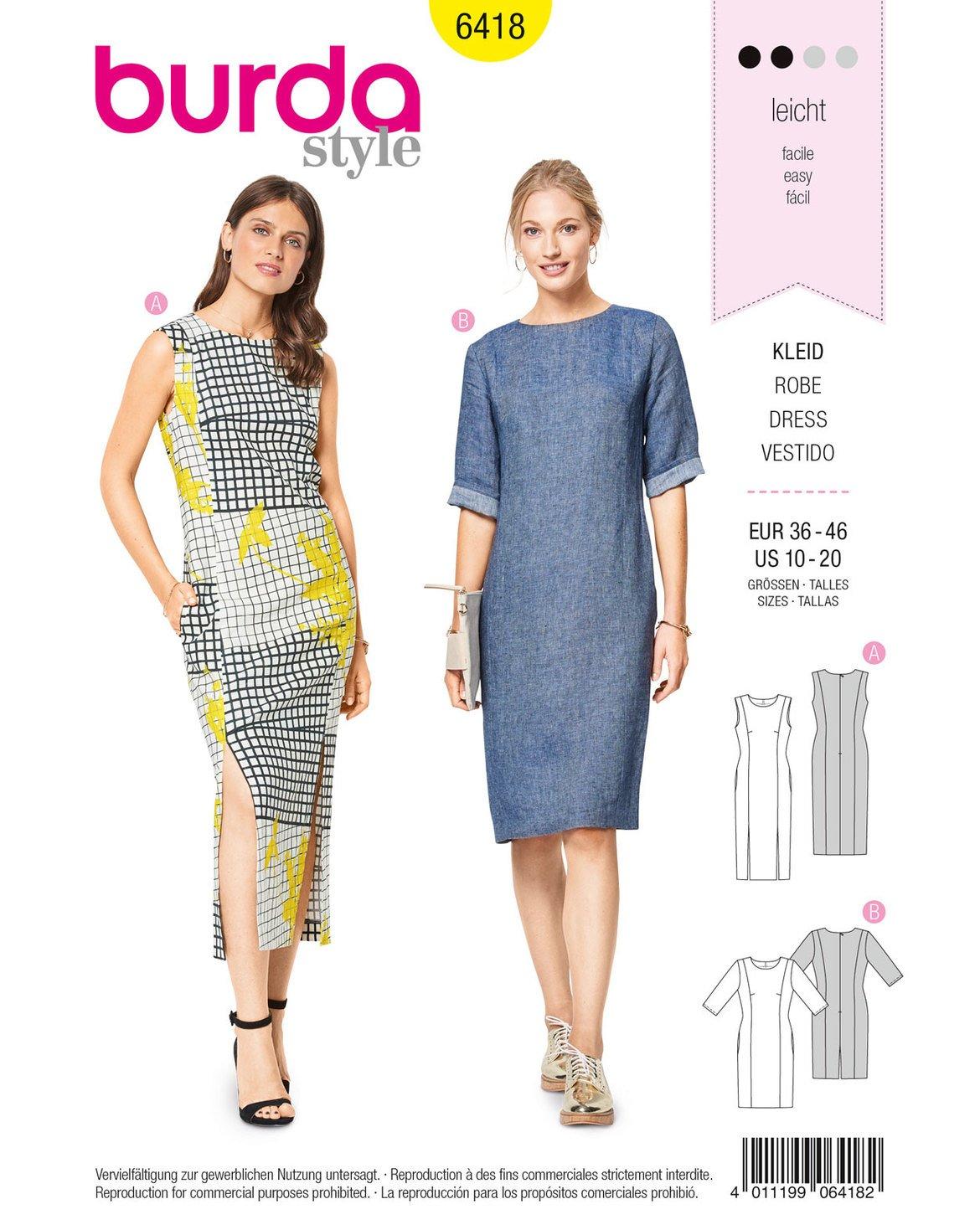 Patrón de costura Burda Style b6418 - Patrones de costura para ...