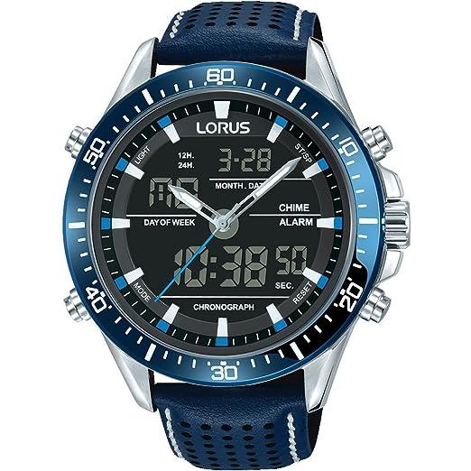 6322cc746 Lorus Mens Sport Analogue/Digital Chronograph Blue RW643AX9: Amazon.co.uk:  Watches