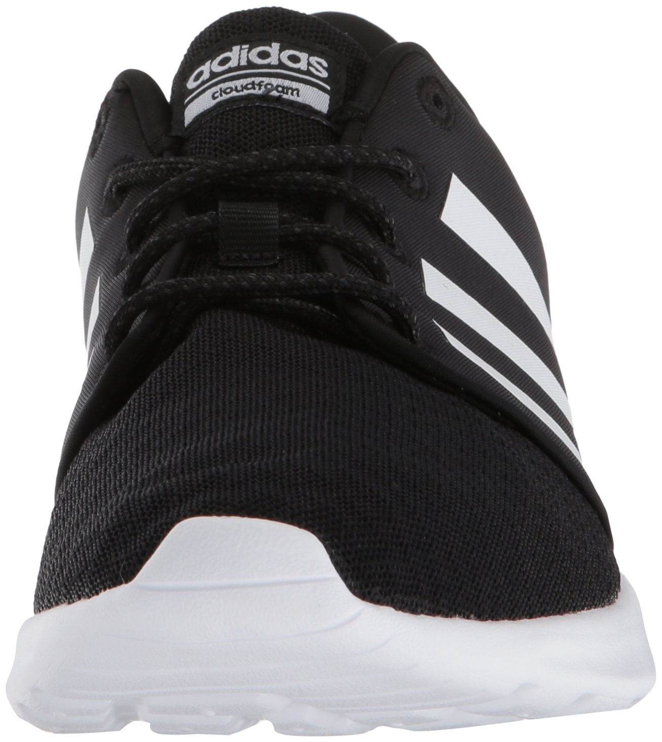 adidas Women's Cloudfoam QT Racer Running Shoe, Black/White/Carbon, 5 M US by adidas (Image #4)