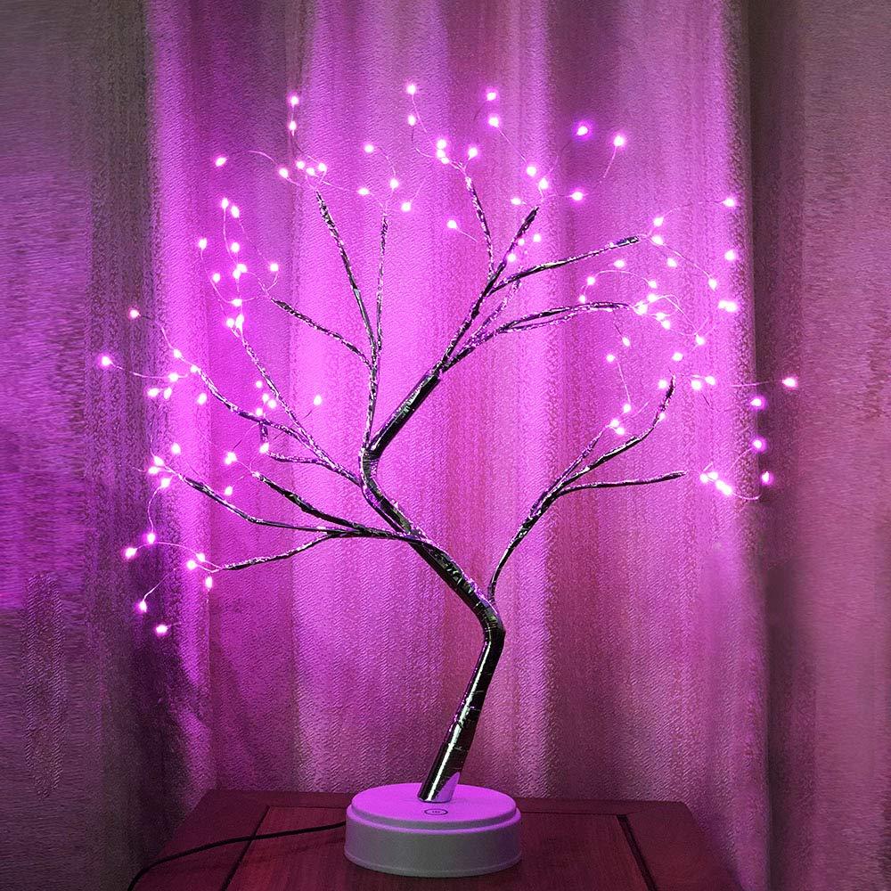 Battery//USB Operated Night Light for Living Room Bedroom Loft Pink SUNICOL Cherry Blossom Tree Light LED Bonsai Artificial Cherry Tree Table Lamp